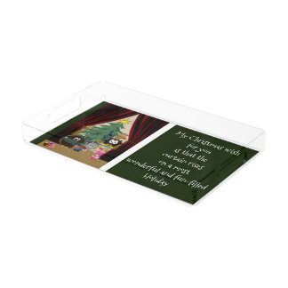 Curtain rises on a fun Holiday Acrylic Tray