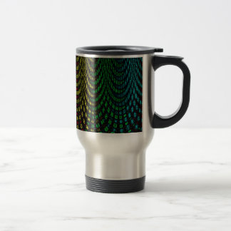 Curtains in abstract travel mug