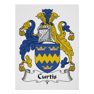 Curtis Family Crest Poster