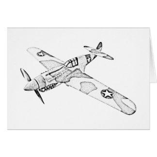 Curtiss P-40 Warhawk Aircraft Cards