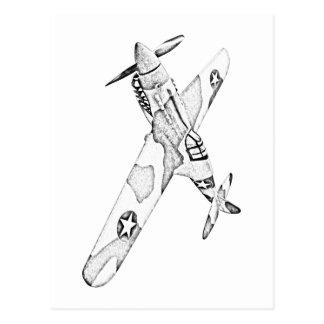 Curtiss P-40 Warhawk Aircraft Post Cards