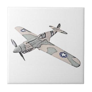Curtiss P-40 Warhawk Aircraft Tile