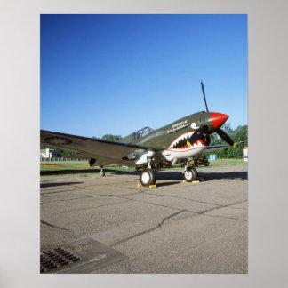 Curtiss P-40 Warhawk, au salon de l'aéronautique d Poster