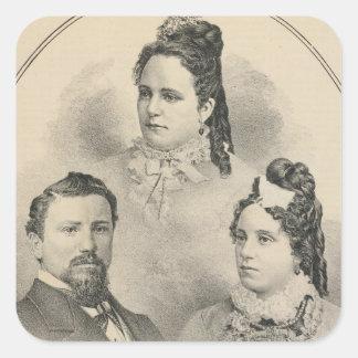 Curtiss & Todd family portraits Square Sticker