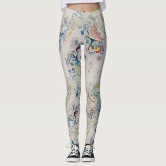 Curve colored pattern leggings