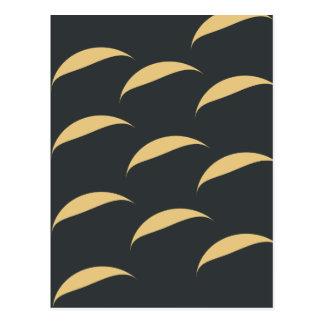curve pattern postcard