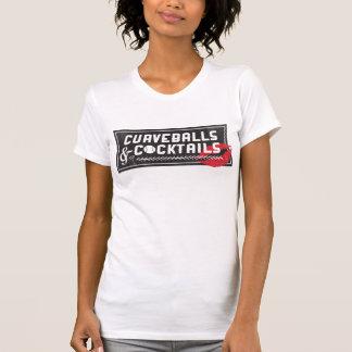 Curveballs and Cocktails Logo Women's Crew T-Shirt