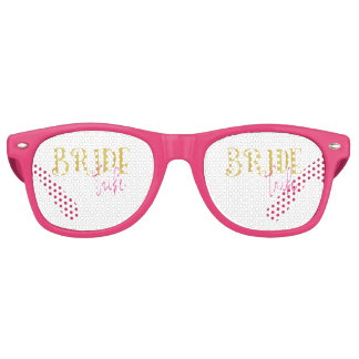 Curved Bride Tribe Pink and Gold Retro Sunglasses