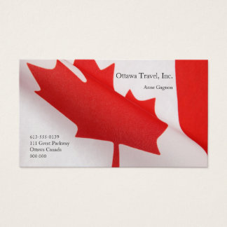 Curved Canada flag Business Card