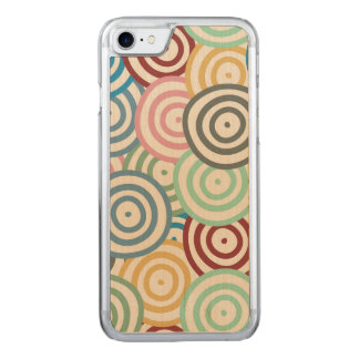 Curved Circles Pattern Carved iPhone 7 Case