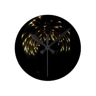 Curved Fireworks Clock
