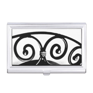 Curved Iron Art Business Card Holder
