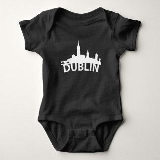 Curved Skyline Of Dublin Ireland Baby Bodysuit