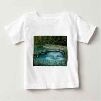 Curved Walking Bridge with Fountain Art Tshirt