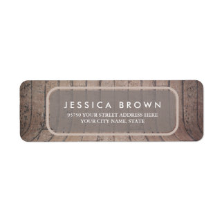 Curved Wooden Backdrop custom return address label