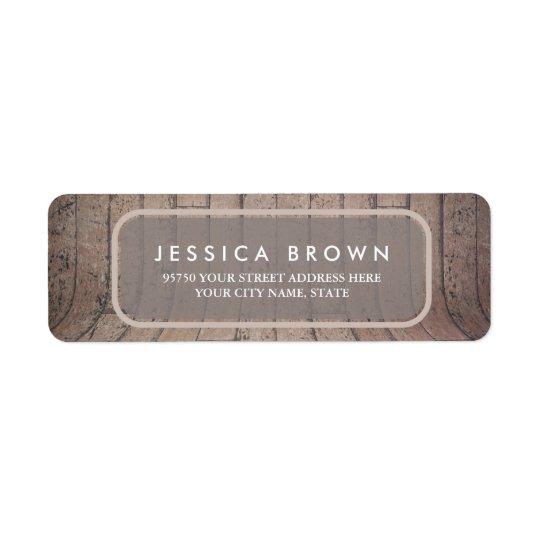 Curved Wooden Backdrop custom return address label