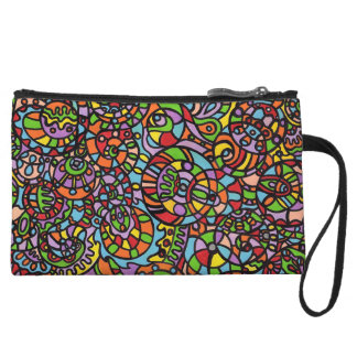 Curves and Spheres Wristlet Clutches