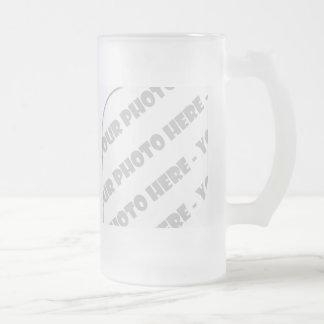 Curves Photo Frosted Stein - Create Your Own