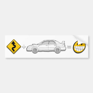 Curves, Subaru, equals fun bumper sticker