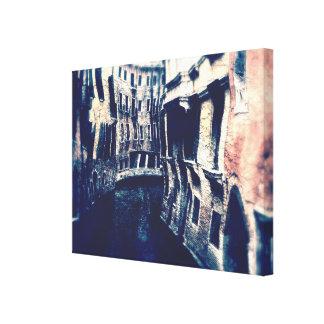 Curving Canals of Venice Canvas Print