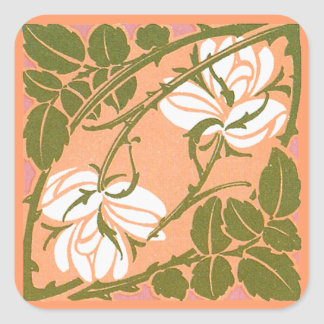 Curving Rose Stems Sticker