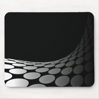 Curving White Dots Mouse Pad
