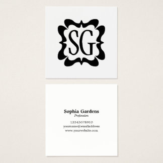 Curvy Box 02 - Initials Square Business Card