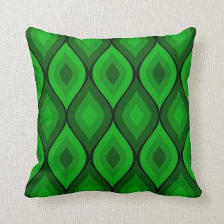 Curvy Oval Geometric | green Throw Pillow