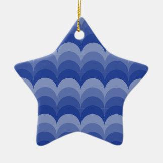 Curvy Waves Ceramic Ornament