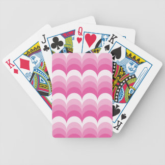 Curvy waves pink bicycle playing cards