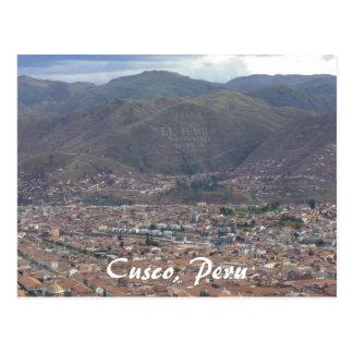 cusco city postcard