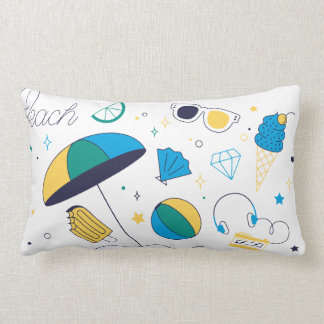 Cushion Amused With Subject of Vacation in the