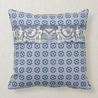 Cushion azulejos cherubs tradition
