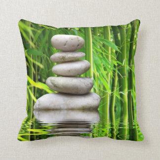 Cushion bamboo stone pyramid