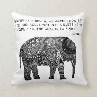 Cushion Buddha Henna Elephant Wisdom