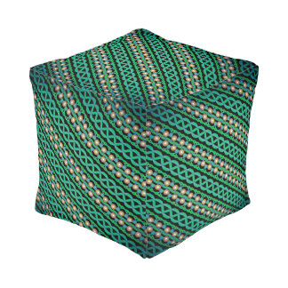 Cushion cubes Jimette Design green and white