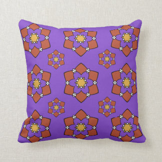 """Cushion déco 1 face """"Rosette"""", purple and Throw Pillow"""