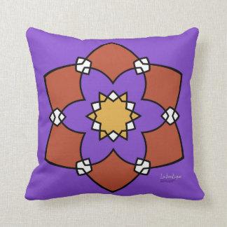 "Cushion déco 2 faces ""Rosette"", purple and Throw Pillow"