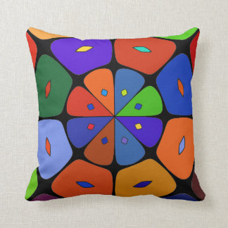 "Cushion déco ""stylized Fleur POP ART"", Dark Colors"