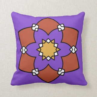 """Cushion decorative, """"Rosette"""", purple and Throw Pillow"""