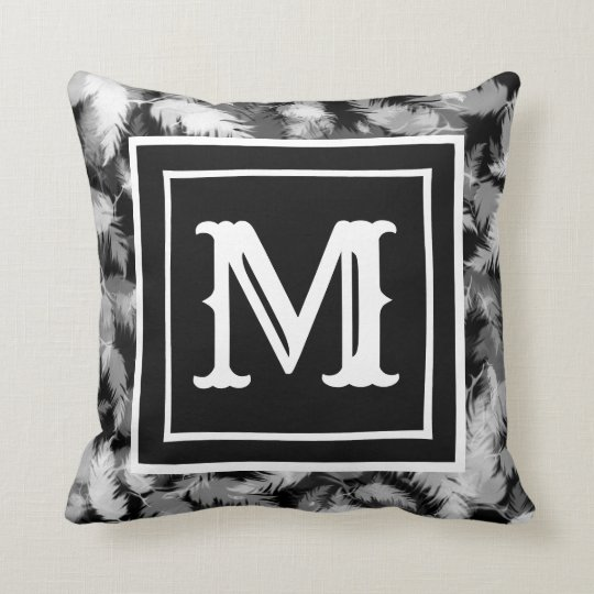 Cushion Feathers with Letter