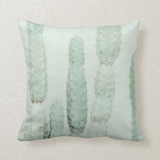 """Cushion from cotton """"Mint Cactus"""" 41x41cm"""