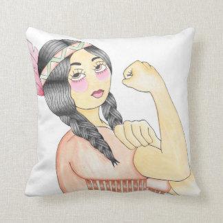 Cushion indigenous woman