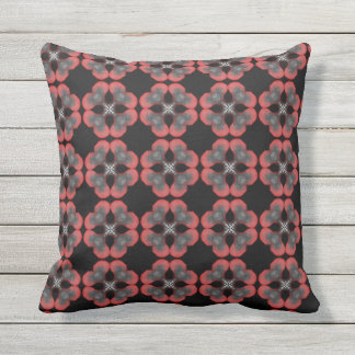 Cushion Jimette gray and black red Design