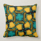 Cushion Jimette orange and turquoise black Design