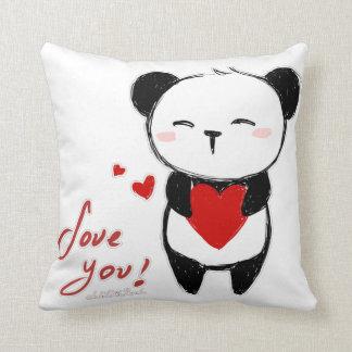 "Cushion ""Love you panda """