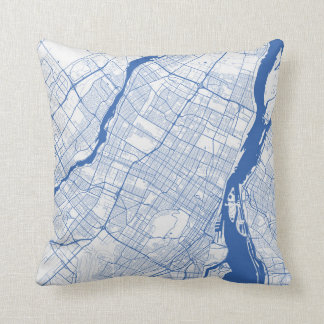 Cushion Montreal urban Pattern BLUE
