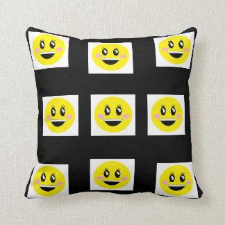 Cushion of happy emojis