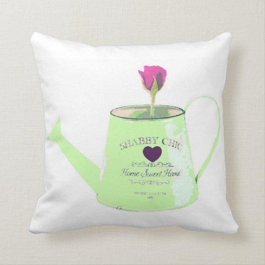 Cushion of vintage regadera cotton in green
