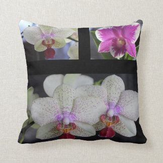 Cushion Photo Joining Orchis Throw Pillow